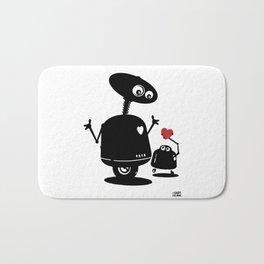 Robot Heart to Heart Bath Mat