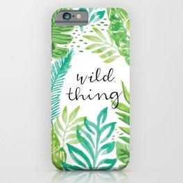 Wild Thing Print iPhone Case