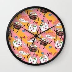 Sushi dance Wall Clock