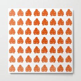 Persimmon Moods Buddha Boys Metal Print