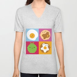 Kawaii Breakfast Unisex V-Neck