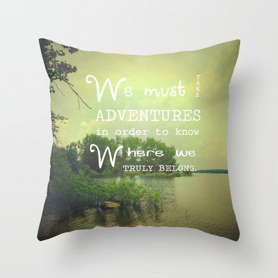 Jade Throw Pillows : Adventure Throw Pillow by Olivia Joy StClaire Society6