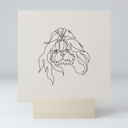 One line Shih Tzu Mini Art Print