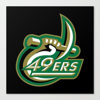 49ers Canvas Prints featuring NCAA - Charlotte 49ers by Katieb1013