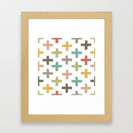 CRISSCROSSED Framed Art Print