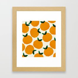 Abstraction_Orange_Fruit Framed Art Print
