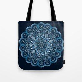 Blue Water Mandala Swirl Tote Bag