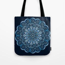 Blue Water Mandala Swirl Tote Bag