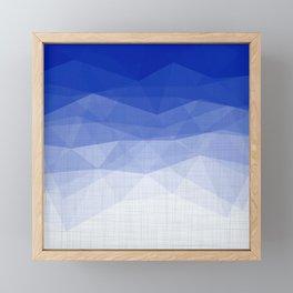 Imperial Lapis Lazuli - Triangles Minimalism Geometry Framed Mini Art Print