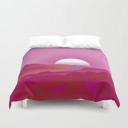 Lesbian Pride Sunrise Landscape Duvet Cover