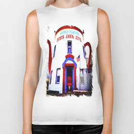 Coffee shop landmark Biker Tank