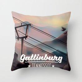 Gatlinburg travel poster Throw Pillow