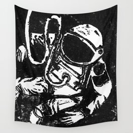 Space Man Wall Tapestry