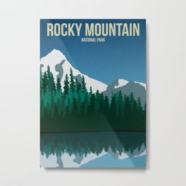 Rocky Mountain National Park - Travel Poster Metal Print