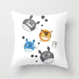 Totomoji Throw Pillow