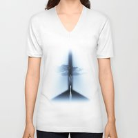 heaven V-neck T-shirts featuring heaven by MatoSwamp