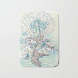 Anais Nin Mermaid [vintage inspired] Art Print Bath Mat