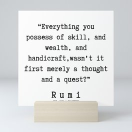 105   | Rumi Quotes | 190221 Mini Art Print