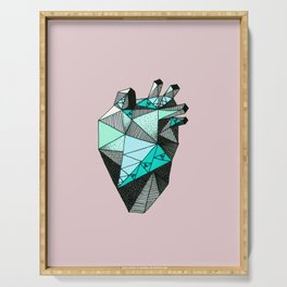 Single Minty Heart Serving Tray