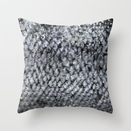 Silver Fish SKIN Throw Pillow