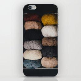 Warm Fuzzy Knits iPhone Skin