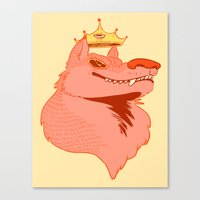 queen Canvas Prints featuring Queen by Natte