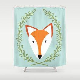f o x Shower Curtain