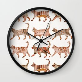 Cat Collection – Sepia Palette Wall Clock
