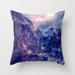 Galaxy Mountains : Deep Pastels Throw Pillow