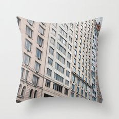 Shapes of New York City Throw Pillow
