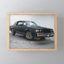 GM Dark Blue Grand National Regal T-type Turbo T Framed Mini Art Print