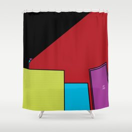 Fifth Floor Hangout Shower Curtain