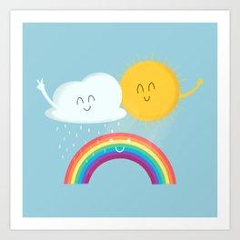 Rainbow's Family Art Print