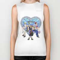 kingdom hearts Biker Tanks featuring Kingdom Hearts by clayscence