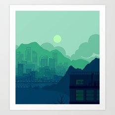 City Overlook Art Print