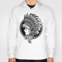 headdress Hoodies featuring Headdress by BIOWORKZ