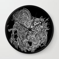 courage Wall Clocks featuring Courage~  by AnyaJocson
