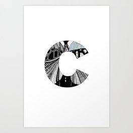 The letter C Art Print