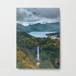 Kegon Falls from Above Metal Print