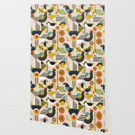 Bauhaus style birds Wallpaper