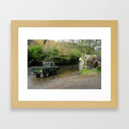 Landrover and the Ford  Framed Art Print
