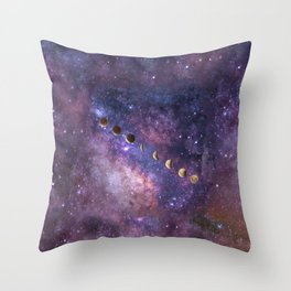 Abstract Outer Space Traveler Throw Pillow