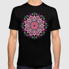 Mandala Bloom Mens Fitted Tee Black MEDIUM