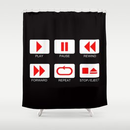 Music Player Button Shower Curtain