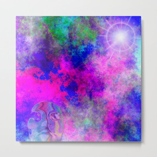 Abstract Space Face 3 Metal Print