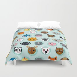Baby Animal Dots Duvet Cover