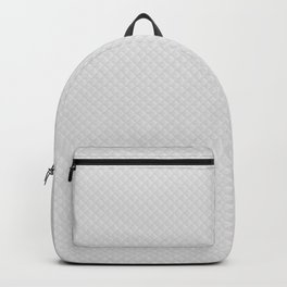 Bright White Stitched and Quilted Pattern Backpack