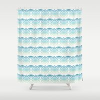 wind Shower Curtains featuring Wind by Caitlin Ramsay
