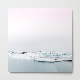 Beautiful glacier lagoon winter Metal Print