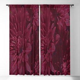 Burgundy Chrysanthemums Blackout Curtain